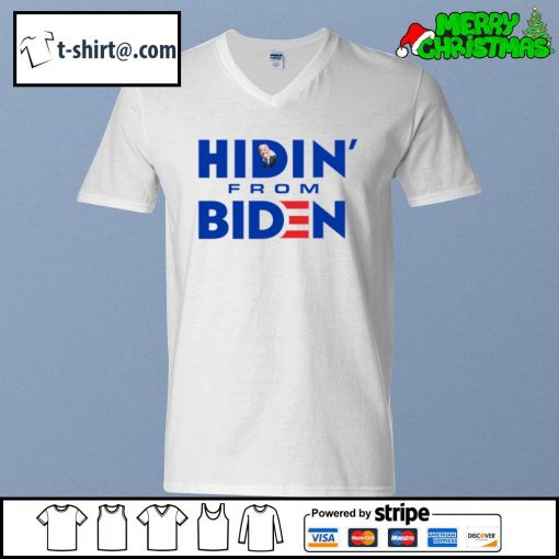 Hidin' from Biden s v-neck-t-shirt