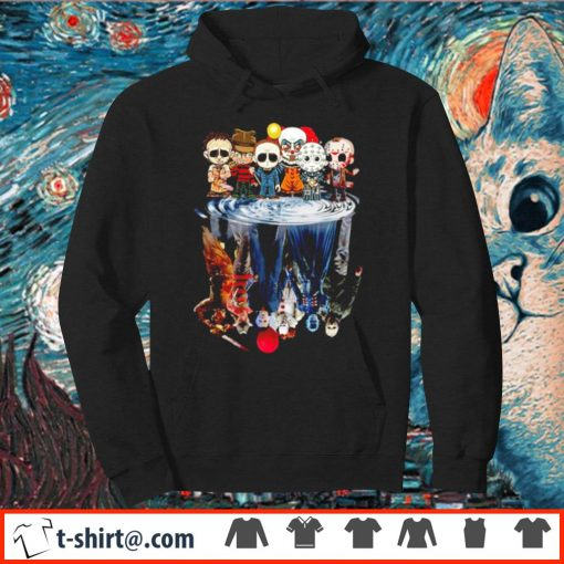 Horror characters water reflection mirror Chibi s hoodie