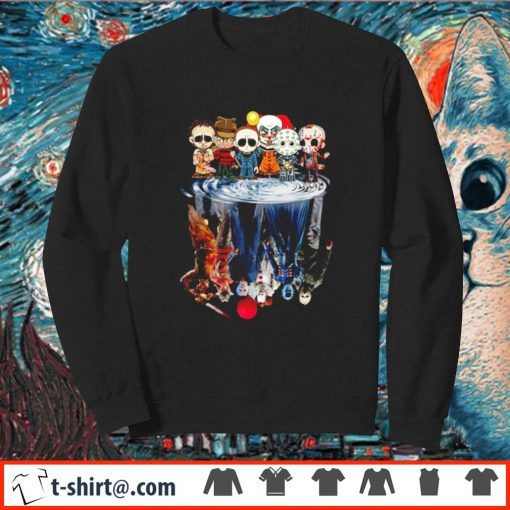 Horror characters water reflection mirror Chibi s sweater