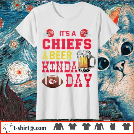 It's a Chiefs and beer kinda day s ladies-tee