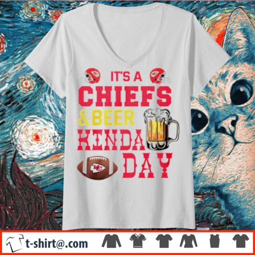 It's a Chiefs and beer kinda day s v-neck-t-shirt