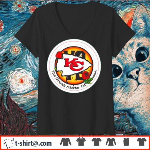 Kansas City Chiefs Vote the great state of Kansas s v-neck-t-shirt