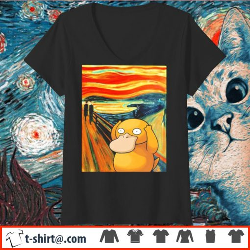 Koduck Scream painting s v-neck-t-shirt
