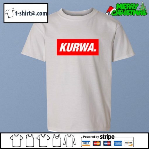 Kurwa in red text typography word s youth-tee