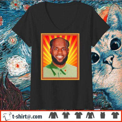 Lebron James' China Mao Zedong Shirt v-neck-t-shirt
