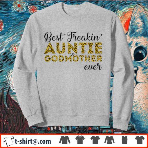 Leopard best freakin' aunt and godmother ever s sweater