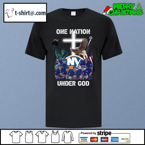 New York Islanders one nation under God shirt