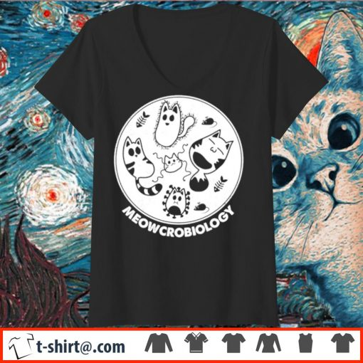 Official Meowcrobiology s v-neck-t-shirt