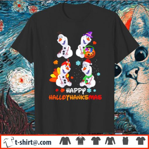 Olaf Disney Frozen Happy Hallothanksmas shirt