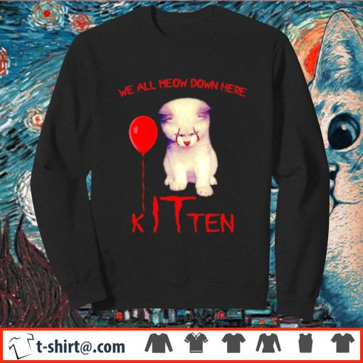 Pennywise cat we all meow down here kITten s sweater