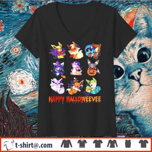 Pokemon Eevee Happy Halloween s v-neck-t-shirt