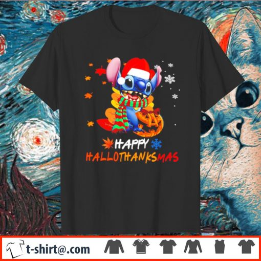 Pumpkin Santa Stitch Happy Hallothanksmas shirt