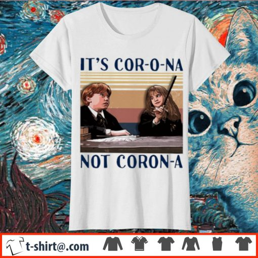 Ron and Hermione It's cor-o-na not Coron-a vintage s ladies-tee
