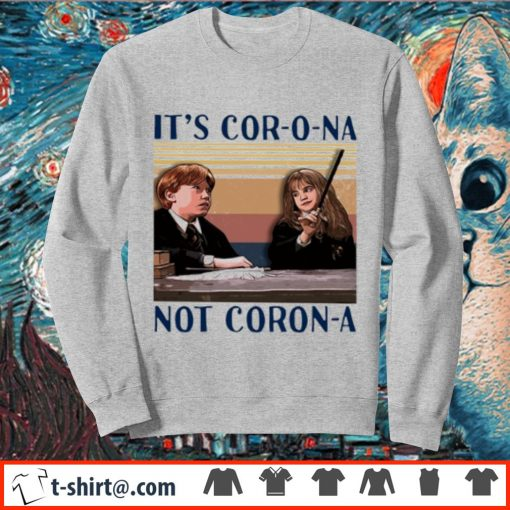 Ron and Hermione It's cor-o-na not Coron-a vintage s sweater