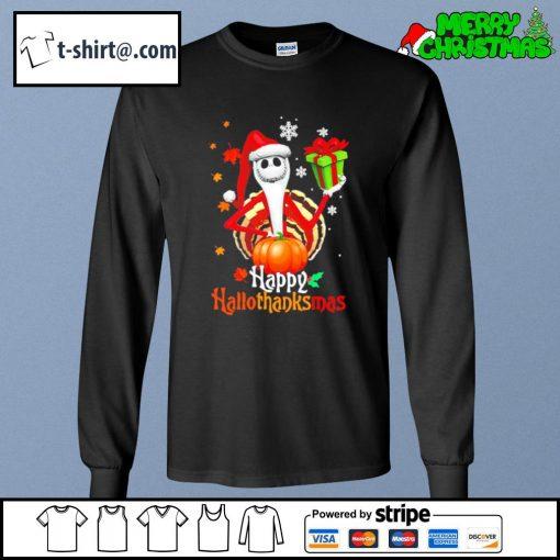 Santa Jack Skellington Happy Hallothanksmas s longsleeve-tee
