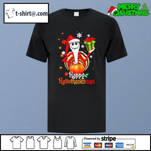 Santa Jack Skellington Happy Hallothanksmas shirt