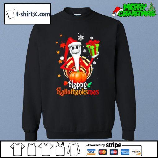 Santa Jack Skellington Happy Hallothanksmas s sweater