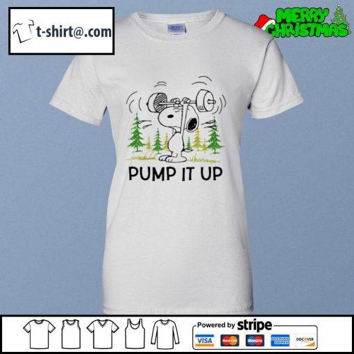 Snoopy pump it up s ladies-tee