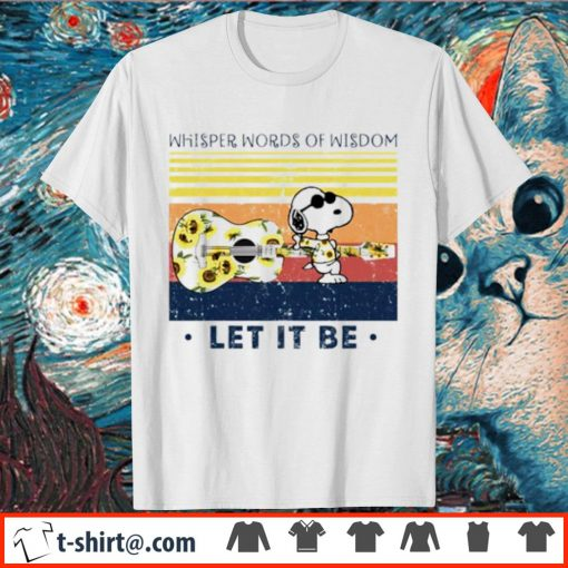 Snoopy whisper words of wisdom let it be vintage shirt