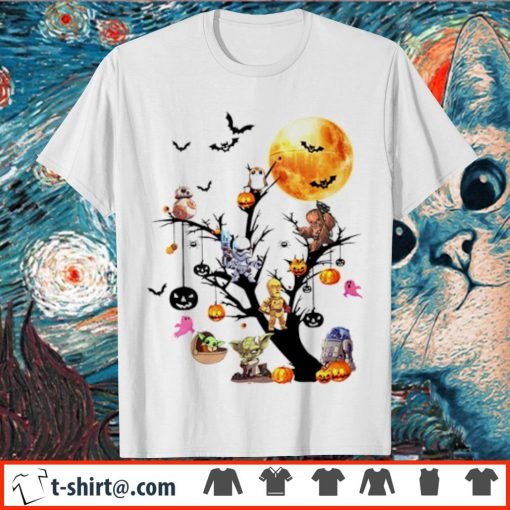 Star Wars tree Halloween pumpkin shirt
