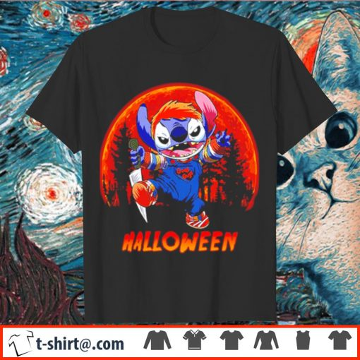 Stitch moon Halloween shirt