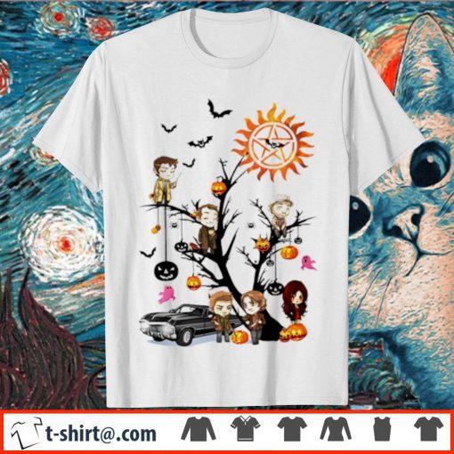 Supernatural tree Halloween pumpkin shirt
