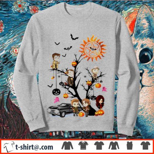 Supernatural tree Halloween pumpkin s sweater