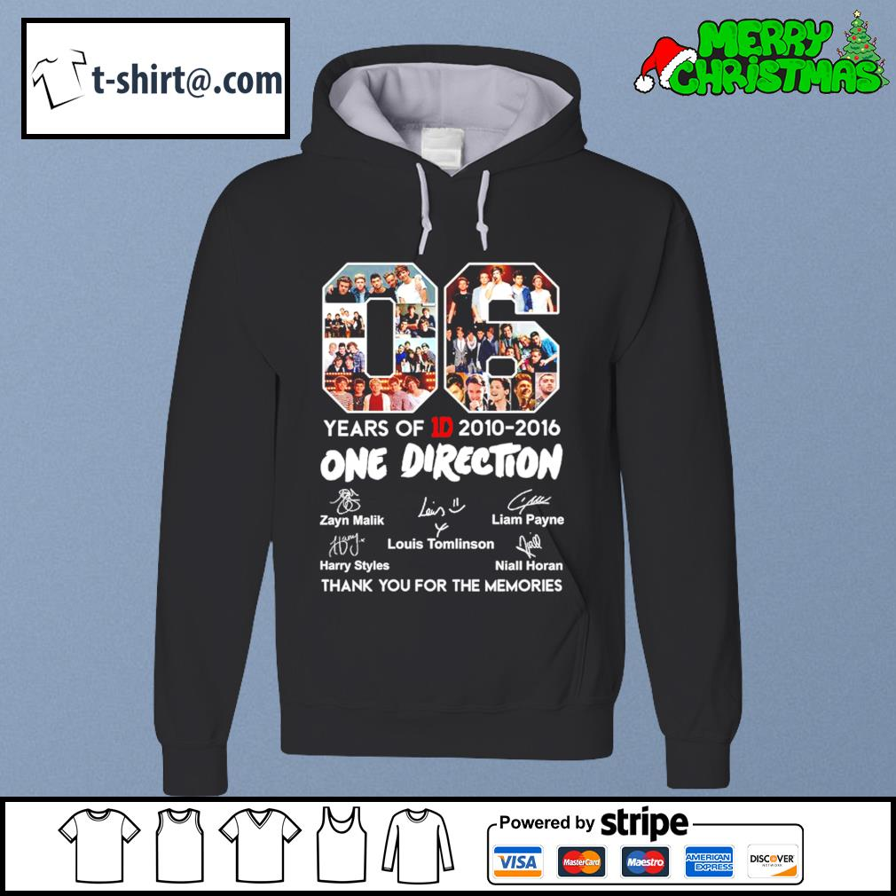 06 years of 1D 2010-2016 One Direction thank you for the memories s hoodie