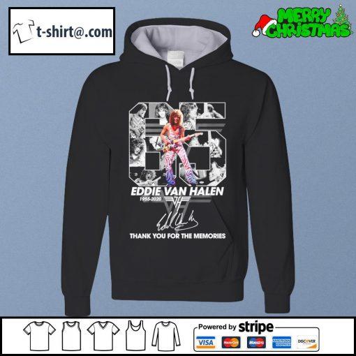 65 Eddie Van Halen 1955-2020 thank you for the memories signature s hoodie