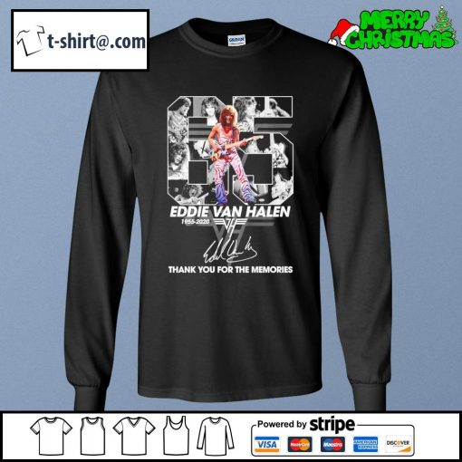 65 Eddie Van Halen 1955-2020 thank you for the memories signature s longsleeve-tee