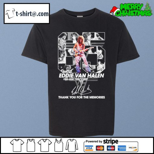 65 Eddie Van Halen 1955-2020 thank you for the memories signature s youth-tee