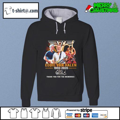 Eddie Van Halen 1955-2020 thank you for the memories s hoodie
