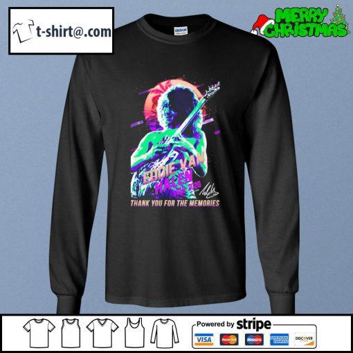 Eddie Van Halen 1955-2020 thank you for the memories T-s longsleeve-tee