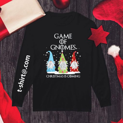 Game of Gnomes Christmas is coming shirt, sweater longsleeve-tee