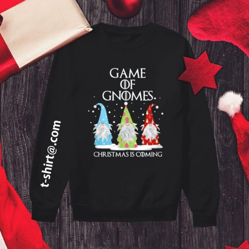Game of Gnomes Christmas is coming shirt, sweater sweater