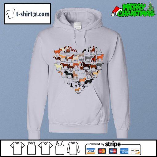 Horse breed of horses heart s hoodie