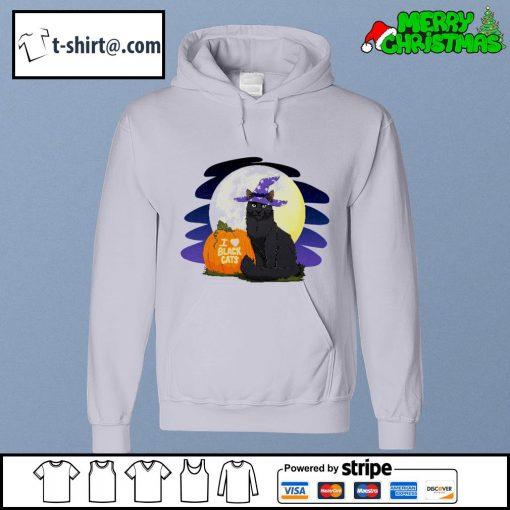 I love black cat Halloween s hoodie