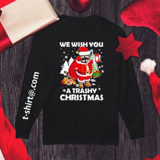 Raccoon we wish you a trashy Christmas shirt, sweater longsleeve-tee