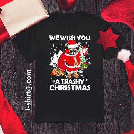 Raccoon we wish you a trashy Christmas shirt, sweater