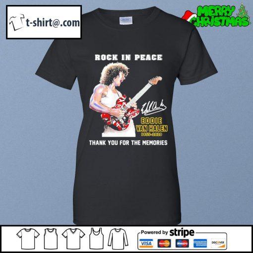 Rock in peace Eddie Van Halen 1955-2020 thank you for the memories s ladies-tee