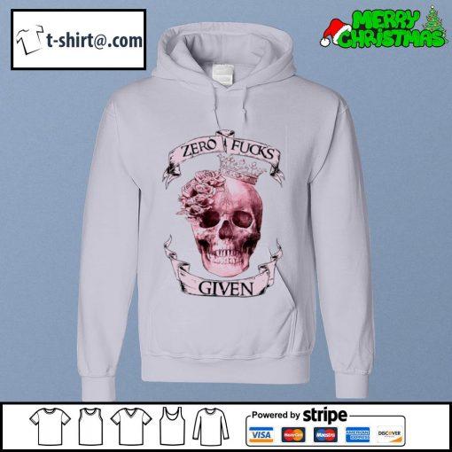 Skull zero fucks given s hoodie