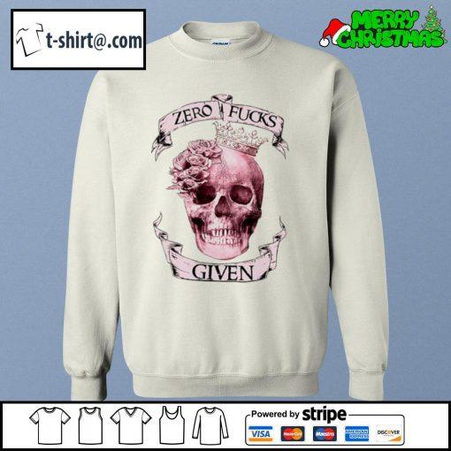 Skull zero fucks given s sweater