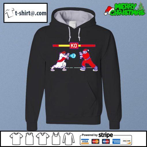 Street Fight Jesus vs Santa s hoodie