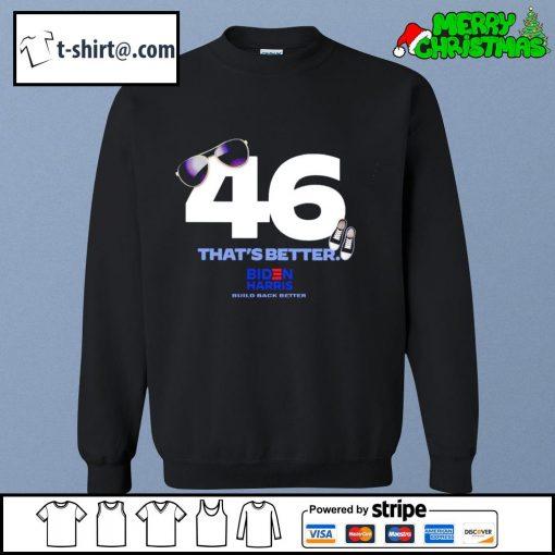 46 that's better Biden Harris build back better s sweater