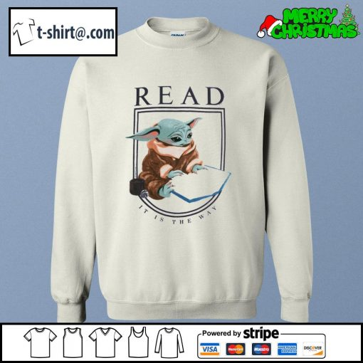 Baby Yoda read it is the way s sweater