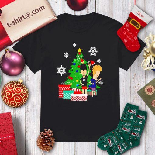 Beavis and Butthead around the Christmas tree shirt