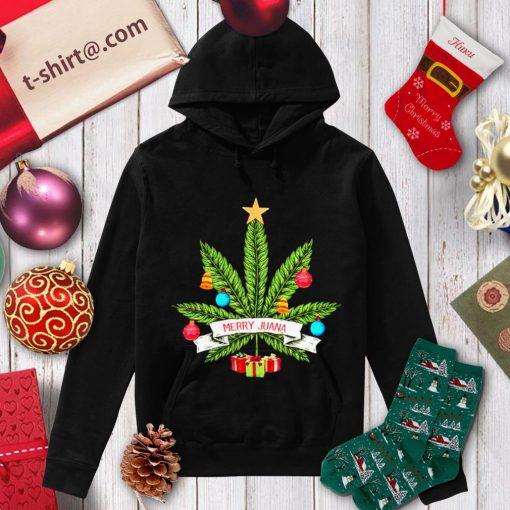 Cannabis weed Merry Juana Christmas shirt, sweater hoodie