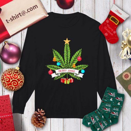 Cannabis weed Merry Juana Christmas shirt, sweater longsleeve-tee