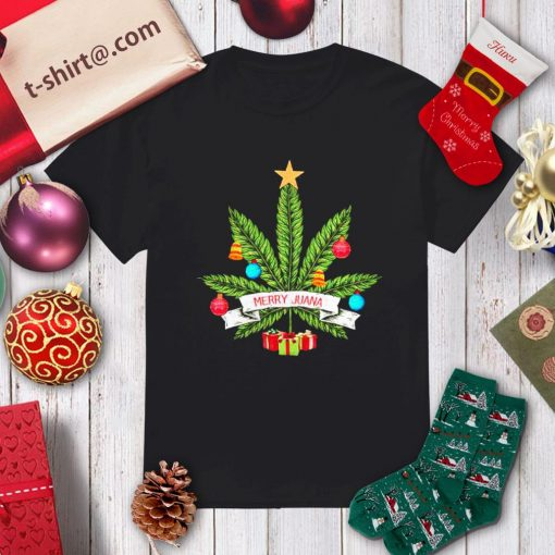 Cannabis weed Merry Juana Christmas shirt, sweater