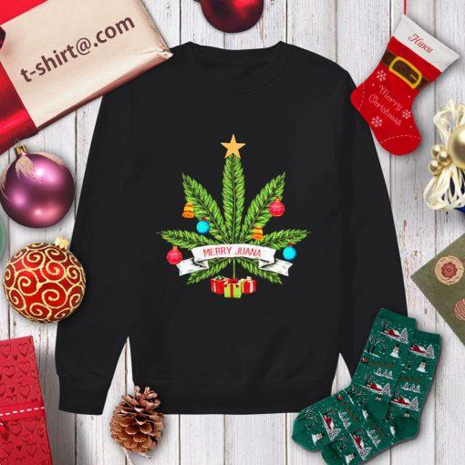 Cannabis weed Merry Juana Christmas shirt, sweater sweater